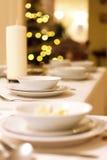 圣诞前夕晚饭 库存图片