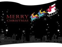 圣诞前夕的圣诞老人 免版税库存照片