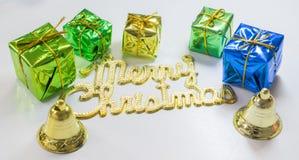 圣诞前夕礼品节假日许多装饰品 免版税库存照片
