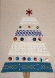 圣诞卡树做用您自己的手 库存图片