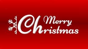 圣诞卡片-与雪花的问候 库存例证