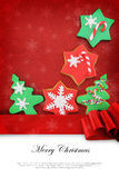 圣诞卡用曲奇饼 免版税库存照片