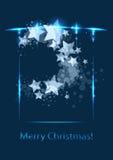 圣诞卡,向量模板 免版税图库摄影