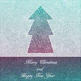 圣诞卡,在蓝色背景的典雅的鞋带 免版税库存照片