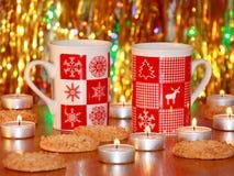 圣诞卡:Xmas装饰-储蓄照片 库存图片