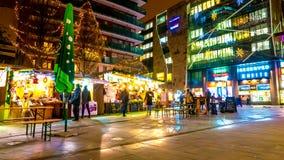 圣诞夜在布达佩斯 库存图片