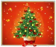 圣诞夜静音结构树 图库摄影