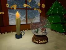 圣诞夜 向量例证