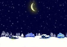 圣诞夜 皇族释放例证