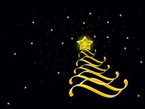 圣诞快乐、闪烁和星形 免版税库存图片