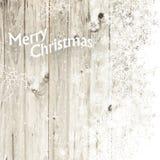 圣诞快乐与被隔绝的边的贺卡 库存照片