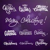 圣诞快乐书信设计集合 免版税库存图片