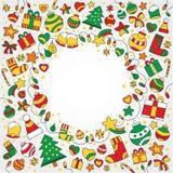 圣诞快乐五颜六色的背景 免版税图库摄影