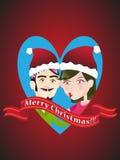 圣诞快乐亲吻 免版税库存照片