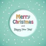 圣诞快乐卡片。 库存照片