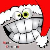 圣诞快乐卡片微笑 免版税库存图片