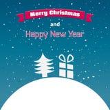圣诞快乐卡片的例证。 库存图片
