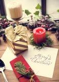 圣诞快乐卡片礼物概念 库存图片