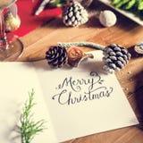 圣诞快乐卡片礼物概念 图库摄影