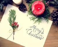 圣诞快乐卡片礼物概念 免版税库存照片