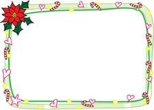 圣诞快乐卡片边界框架 库存图片