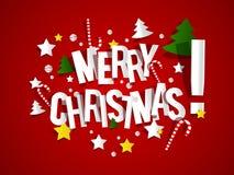 圣诞快乐卡片 库存图片