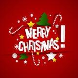 圣诞快乐卡片 免版税库存照片