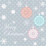 圣诞快乐卡片 免版税图库摄影