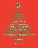 圣诞快乐印刷术树 免版税库存照片