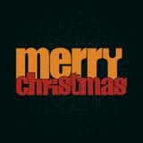 圣诞快乐印刷贺卡- 库存图片