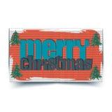 圣诞快乐印刷贺卡- 免版税库存照片