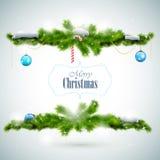 圣诞快乐发光的贺卡 免版税库存照片