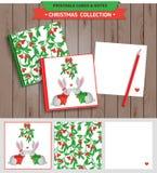 圣诞快乐可印的集合 库存照片