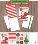 圣诞快乐可印的集合 库存图片