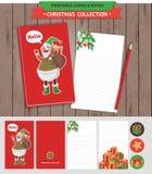 圣诞快乐可印的集合 图库摄影