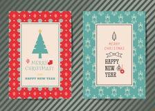 圣诞快乐向量图形贺卡 库存图片