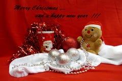 圣诞快乐和一新年好 免版税图库摄影