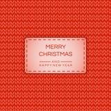 圣诞快乐和愉快的新的2019年横幅,在被编织的作用的海报 传染媒介储蓄背景 皇族释放例证