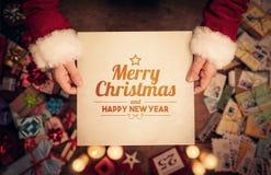 圣诞快乐和愉快的新年贺词 库存图片