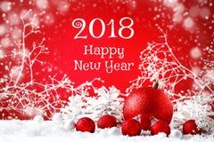 圣诞快乐和新年好 与新年装饰的新年` s背景,与拷贝空间的背景 免版税库存照片