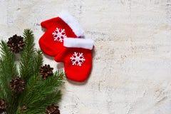 圣诞快乐和新年好!圣诞卡 库存照片