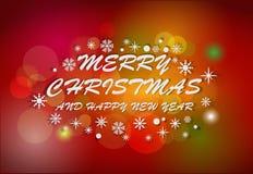 圣诞快乐和新年好 皇族释放例证