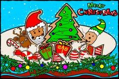 圣诞快乐和新年快乐假日问候背景 免版税库存照片