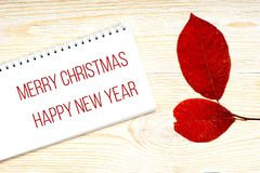 圣诞快乐和新年快乐问候 图库摄影