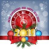 圣诞快乐和新年快乐2019年 皇族释放例证