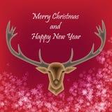 圣诞快乐和新年好传染媒介 免版税图库摄影