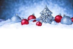圣诞快乐和新年好卡片 免版税库存照片