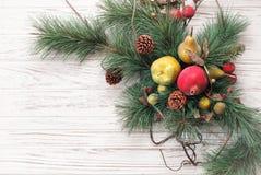 圣诞快乐和新年好拟订背景 图库摄影