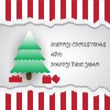 圣诞快乐和新年好拟订eps10 库存图片