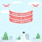圣诞快乐和新年好问候 免版税库存图片